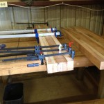 Phase one of table top glue-up
