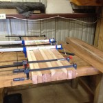 Second phase of top glue-up