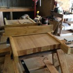 Router & jig used to level table top