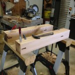 Cutting mortises into table legs