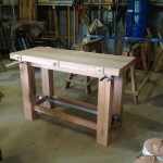 Assembled table (rear) before finishing