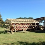 With lath and bracing