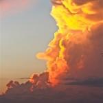 Evening thunderhead