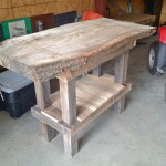 "Unfinished Red oak ""Fish cleaning"" table"