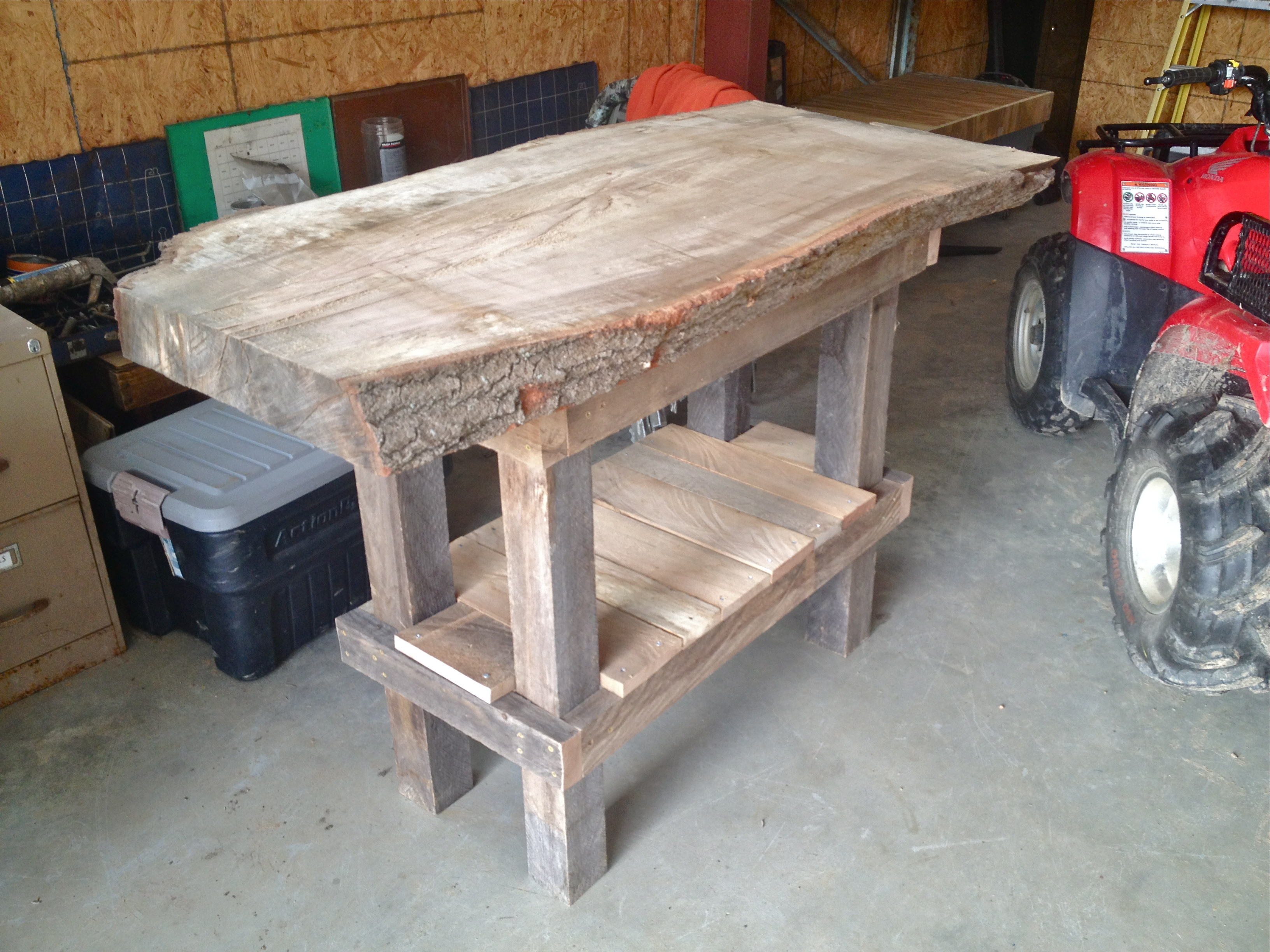 Catfish skinning table barrack farms for Homemade fish cleaning table