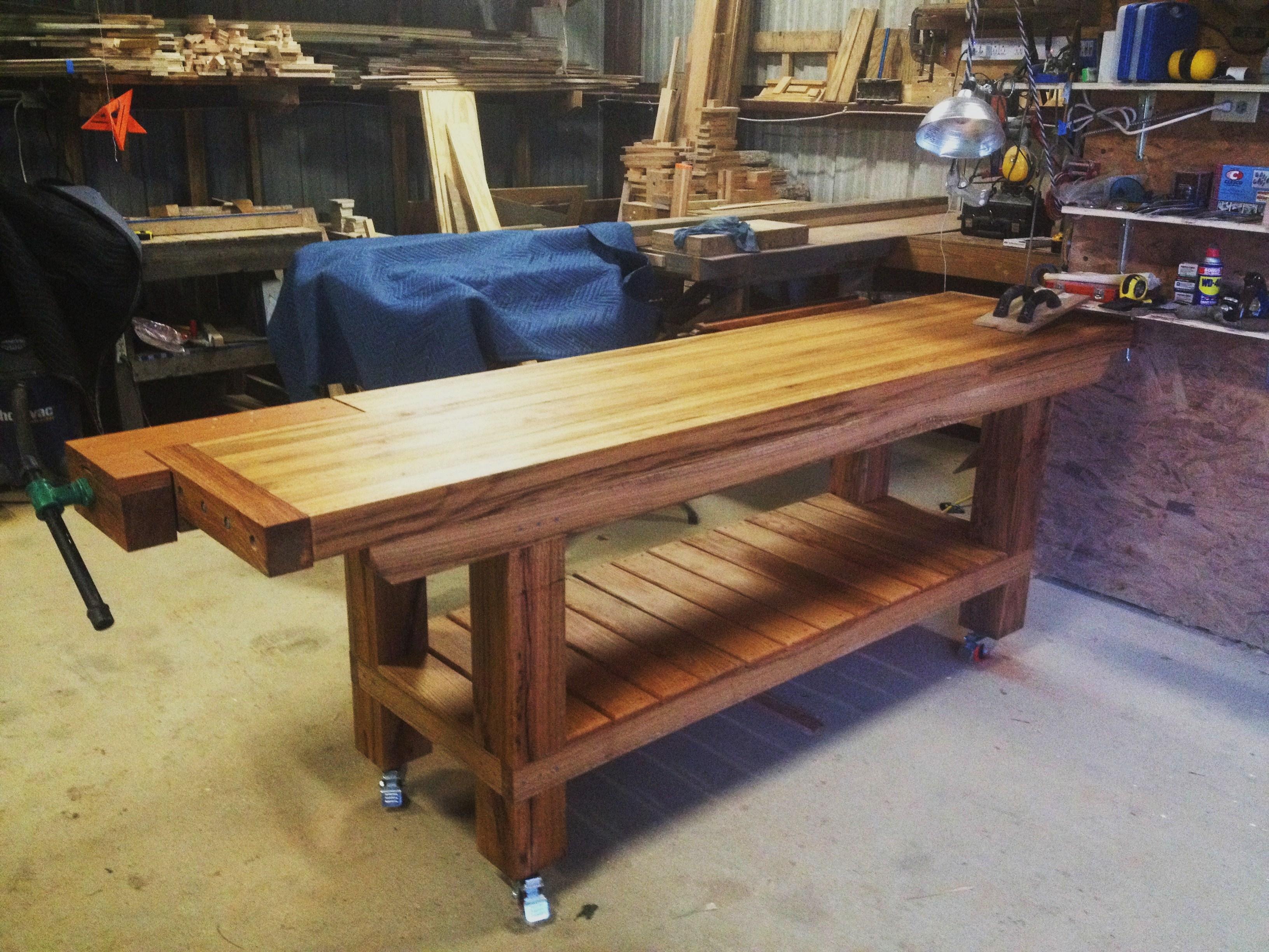 Butcher Block Workbench >> Wood Shop | Barrack Farms