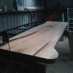 "12' x 40"" x 3"" thick Workbench on pine base"