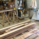 Laguna Band Saw resawing pecan planks
