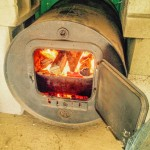 Barrel Stove with first fire