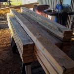Sorted sawmill pine lumber