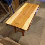 Hickory table with legs 3