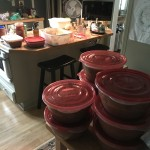 Kitchen a mess after processing 10 gallons of fresh salsa